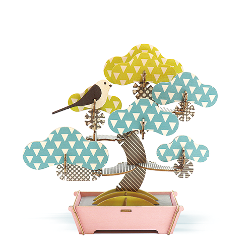 【組み合わせ無限大のウッドパズル】PLAY PLANTS BONSAI PUZZLE PINE TREE プレイプランツ 盆栽パズル 松