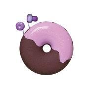 ドーナツイヤホン ブルーベリーチョコレート