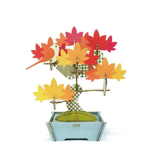 【組み合わせ無限大のウッドパズル】PLAY PLANTS BONSAI PUZZLE JAPANESE MAPLE プレイプランツ 盆栽パズル 椛