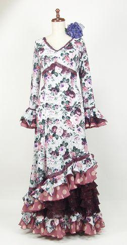 ★G1512-BO★カネラ・ボルドー グレー×ボルドー・ピンク花柄 B88W70