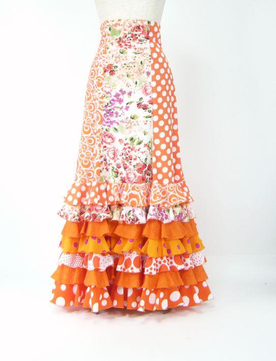★サマーセール★SG-5  ハイウエストファルダ オレンジ系   W70