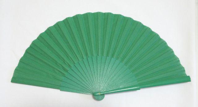 フラメンコ・アバニコ・無地・片面張り・中サイズ・緑 (27cm)