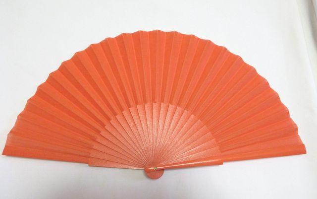 フラメンコ・アバニコ・無地・片面張り・中サイズ・オレンジ (27cm)
