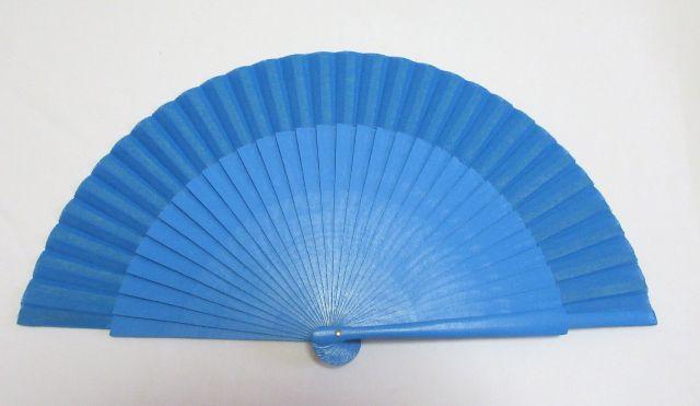 フラメンコ・アバニコ・無地・片面張り・小サイズ・青(23cm)