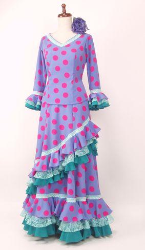 ★NEW★G1904★フジ色×ピンク水玉 ツーピース B88W70