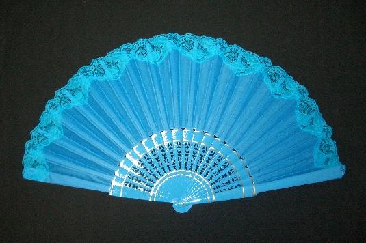 レース付き・片面張りアバニコ・大(31.5cm)・青