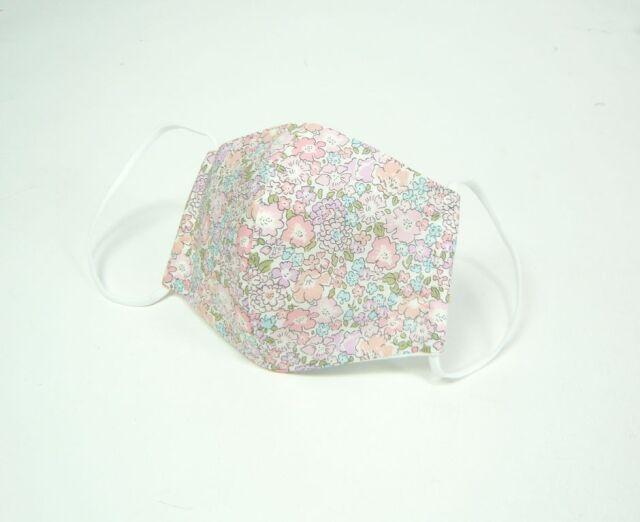 ●立体布マスク●  リバティ ピンク系花柄(ミッシェル) 女性用 夏用か秋冬用選べます