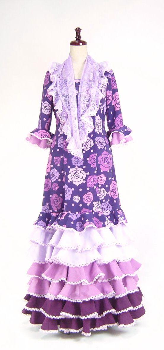 ★セール★SH-9 紫×ピンク系花柄ワンピース  B82W68(小さめサイズ)