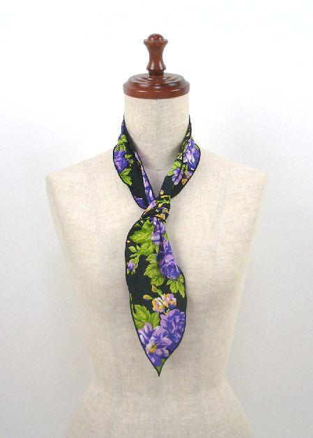 ●イージーオーダー● パニュエロ小 柄生地 ボウタイ スカーフ 約100×12.5