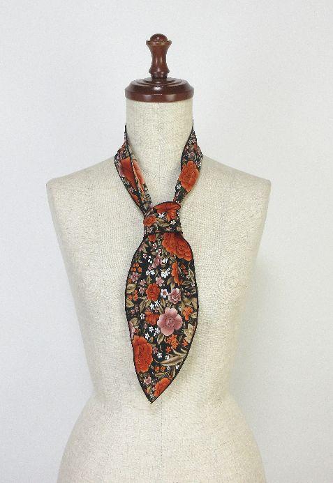 ●イージーオーダー●PA-S85 パニュエロ小・ボウタイ・黒×オレンジ花柄
