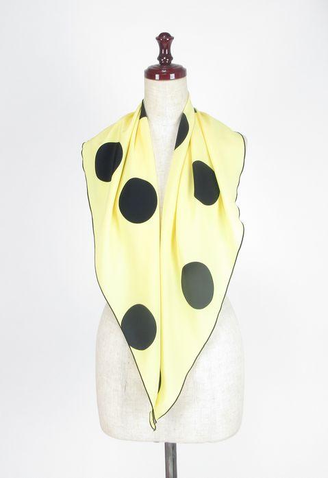 フラメンコ・ピキージョ・PI-5・薄黄×黒水玉