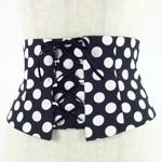 フラメンコ・ベルト・黒×白水玉・BELT-2