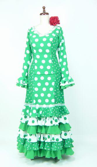 ★セール★SG-1 ツーピース 緑×白水玉 B96W79