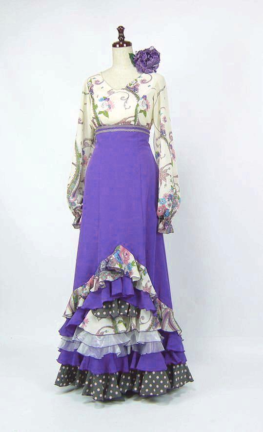 NEW★セール★SH-1  ハイウエストツーピース 紫&アイボリー花柄  B88W70