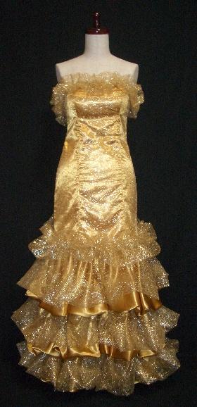ゴールド・カラードレス|WED5