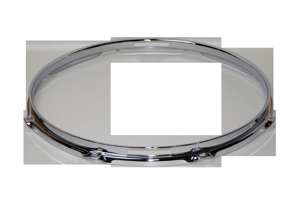 """トリプルフランジフープ(クローム)Hoop 1.6mmx13""""x8 Resonant 161308Scr"""