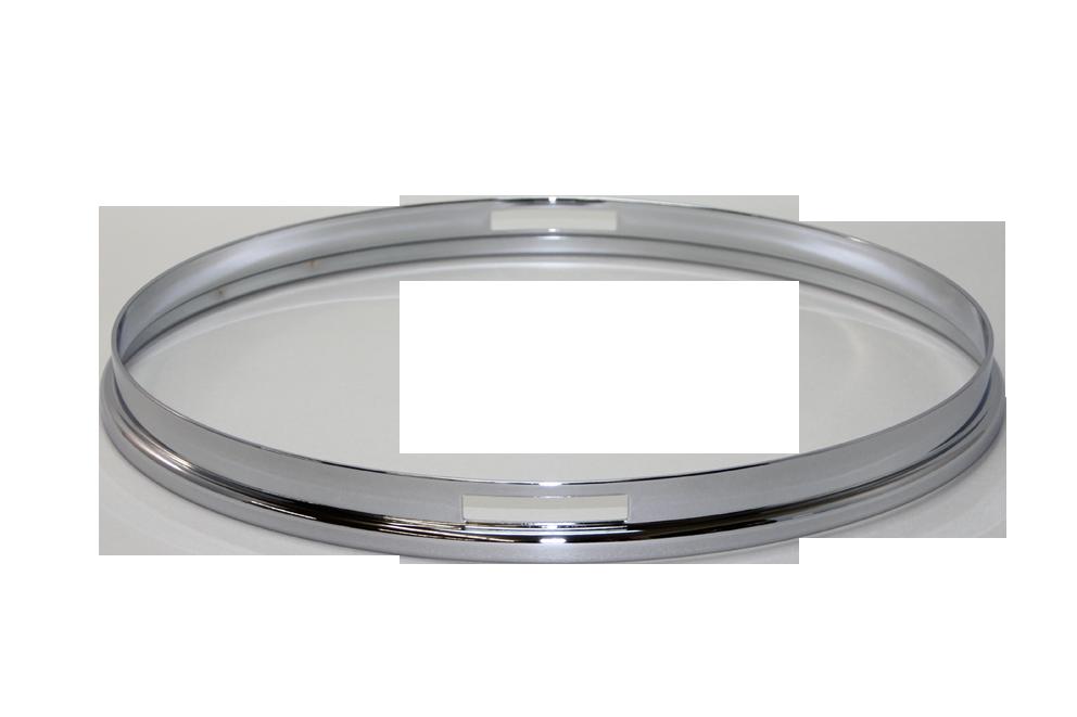 """ダブルフランジフープ (クローム) 2.3mm x 14"""" Snare Side"""