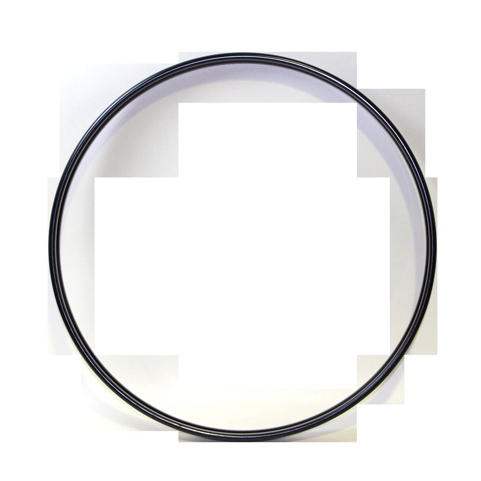 """バスドラムフープ(スチール・ブラック)Steel Hoop 20"""" Batter/Resonant"""