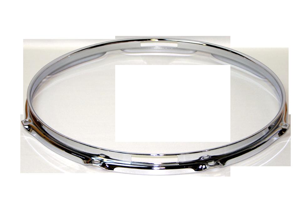 """トリプルフランジブラスフープ(クローム)Hoop 2.5mmx14""""x8 Resonant 251408Scr"""