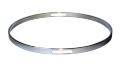 """シングルフランジフープ(クローム)Hoop 4.5mm x19mm x10"""" Resonant  451910Scr"""