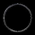"""バスドラムフープ(スチール・ブラック)Steel Hoop 24"""" Batter/Resonant"""