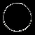 """バスドラムフープ(スチール・クローム)Steel Hoop 24"""" Batter/Resonant"""
