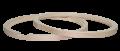 """フープ(メイプル)Hoop 14""""x 8 スネア用セット Batter/Resonant 1408 (Bランク品につき大特価)"""