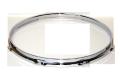 """トリプルフランジブラスフープ(クローム)Hoop 2.5mmx13""""x8 Batter 251308cr"""