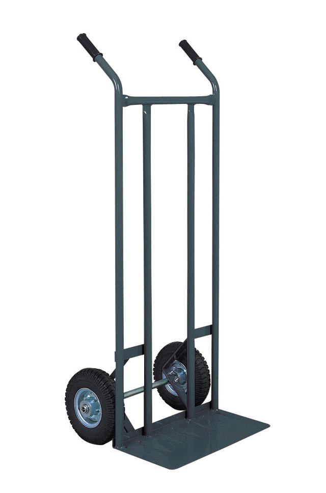 二輪台車/ネコ足 空気タイヤ仕様 NS31T 荷台板W470xD205