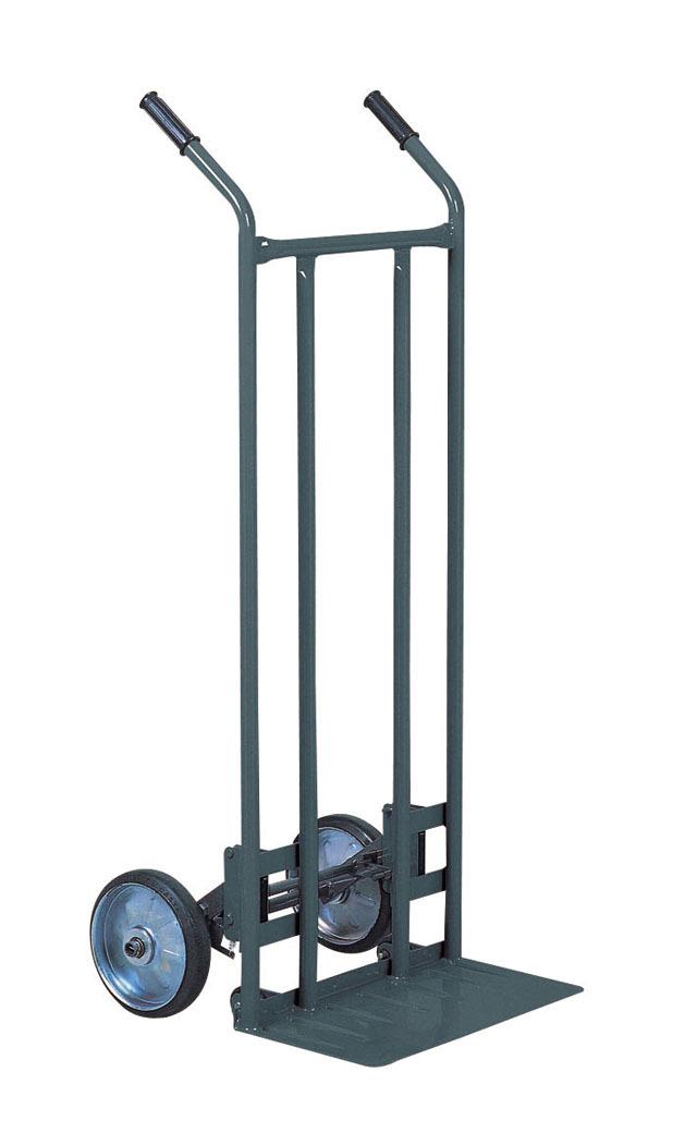 二輪台車/ネコ足 ロッキング機構(補助輪)仕様 NS41T 荷台板W470xD205