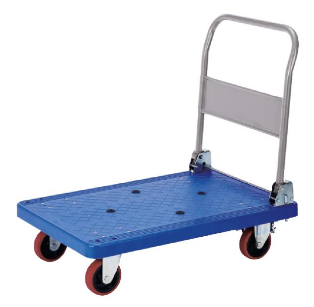 (静かで軽い走行)プラ折畳ハンドル台車しずかるPRBL300SS(大)
