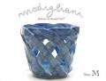 140419モディリアーニイタリア製陶器鉢カバーMブルー