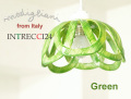 140828Modigliani モディリアーニイタリア製陶器のランプシェードペンダントライトINTLAMPC24グリーン