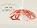 141011【Modigliani モディリアーニ】イタリア製陶器のランプシェードペンダントライト INTLAMPC22 レッド