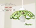 141012【Modigliani モディリアーニ】イタリア製陶器のランプシェードペンダントライト INTLAMPC22 グリーン