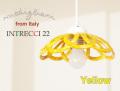 141013【Modigliani モディリアーニ】イタリア製陶器のランプシェードペンダントライト INTLAMPC22 イエロー