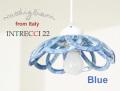 141014【Modigliani モディリアーニ】イタリア製陶器のランプシェードペンダントライト INTLAMPC22 ブルー