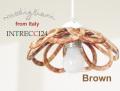 141016【Modigliani モディリアーニ】イタリア製陶器のランプシェードペンダントライト INTLAMPC22 ブラウン