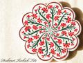 141109Artnicea トルコタイル花型鍋敷き 赤いカーネーション