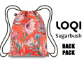 LOQIローキー ブランド バックパック ナップサック リュック 軽い 花柄 WILD Collection Sugarbush