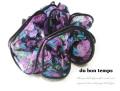 160342シュシュ キレイ色 紫(パープル)花柄シフォンのシュシュ ヘアゴム ヘアアクセサリー