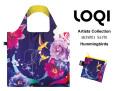 161007エコバッグ LOQIローキー ブランド  折り畳み 鳥&お花柄 Artists Collection SHINPEI NAITO Hummingbirds