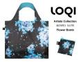 161008エコバッグ LOQIローキー ブランド 折り畳み お花柄 Artists Collection  SHINPEI NAITO Flower Bomb