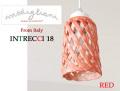 170106ペンダントライト イタリア製 陶器製 ランプシェード Modigliani モディリアーニ INTLAMPTU18 レッド 赤
