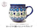 170427母の日ギフト マグカップ ポーリッシュポタリー ブルーのお花&チューリップ ポーランド陶器