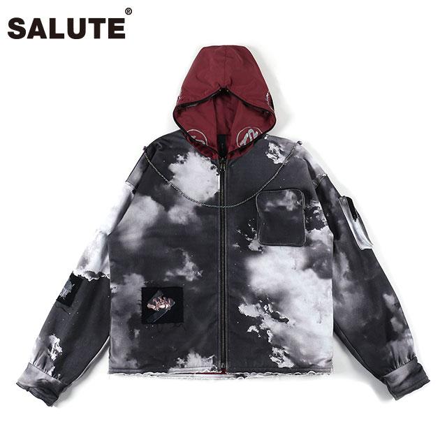 SALUTE X BLACKLUX DOUBLE WEAR HOODIE サルーテ ブラックラックス リバーシブル フード ジャケット