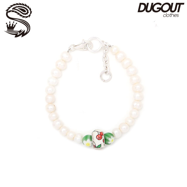 SPARKING X DUGOUT CHERRY & FLOWER POTATO PEARL BRACELET スパーキング ダグアウト別注 パール チェーン ブレスレット