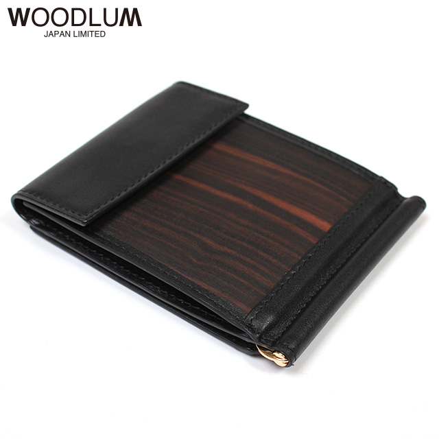 WOODLUM_REAL WOOD CLUB WALLET -KOKUTAN-_木製 マネークリップ 財布
