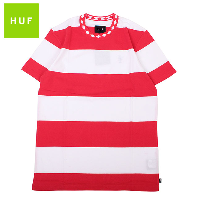 HUF ACE STRIPE SS TEE ハフ ボーダー 半袖 Tシャツ (2色展開)