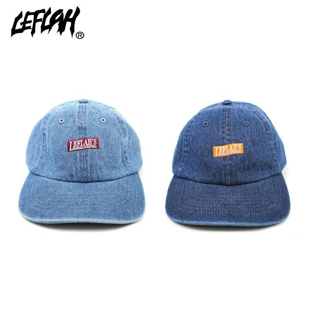 LEFLAH BOX LOGO CAP DENIM レフラー デニム キャップ 帽子